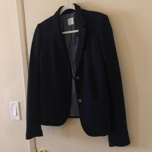 Navy blue blazer with a soft outer  shell
